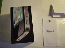 Apple iphone 4 16GB White BOX AND START MANUAL ONLY (NO PHONE)