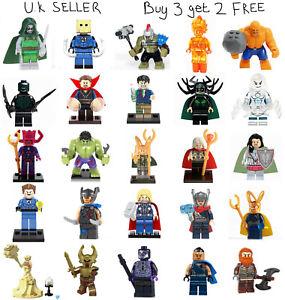 Fantastic 4 Marvel Thor Minifigure Lego & Custom Fantastic Four Pyro Mini Figure