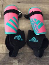 Girls Adidas Youth Soccer Shin Guards Ankle Sock Pink Large 10-13 years