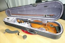 deutsche Geige Violine 3/4  guter Klang Set mit Etui Bogen Stütze