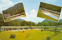 Cherokee North Carolina 1950s Postcard Cool Waters Motel Swimming Pool