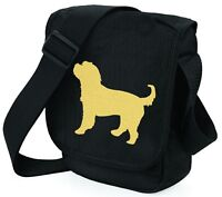 Cockapoo Shoulder Bags Metallic Gold / Silver Cockerpoo on Black Bag Xmas Gift