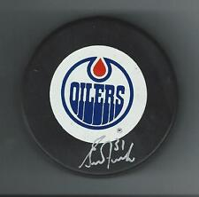 Grant Fuhr Signed Edmonton Oilers Trench Puck