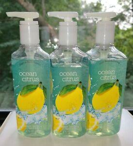 (3) Bath & Body Works Ocean Citrus Deep Cleansing Hand Soap 8 fl oz/ 236 ml