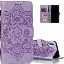 Samsung Galaxy A51 Case Wallet Leather Flip Magnetic Stand Card Mandala Purple