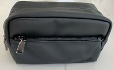 LAB SERIES black faux leather pouch toiletry shaving dopp bag travel case NEW