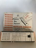 ROBINS NEW PRECISION STYLUS FORCE GUAGE SG-2 RECORD PLAYER TURNTABLE NEW VINTAGE