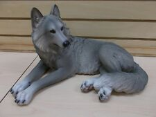 Hd45690 The Presence Large Laying Wolf Dkw Figurine Statue