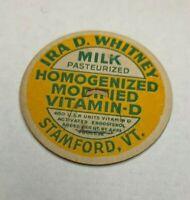 Ira D Whitney Stamford Vermont a2-106 Vintage Milk Cap POG