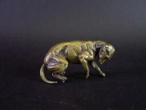 - alte Tierfigur JAGDHUND - patiniert, bronziert