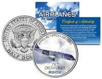 Japan All Nippon Airways R2-D2 Plane STAR WARS Colorized JFK Half Dollar US Coin