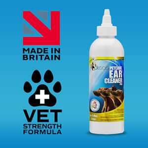 *VET STRENGTH*Pet Cat Dog Ear Cleaner Drops STOP Shaking Itching Mites Odour Wax