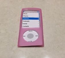 Silicone Case Cover Skin in Pink for Apple iPod Nano 4G 4th Gen NEW
