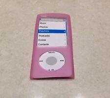 COVER Custodia in silicone Pelle in rosa per Apple iPod Nano 4 G 4th GENERAZIONE NUOVO