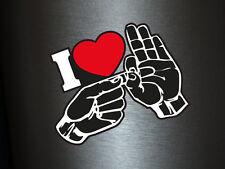 1 x Aufkleber I Love Fucking Fuck Heart Herz Sticker Shocker Tuning Dub Fun Gag