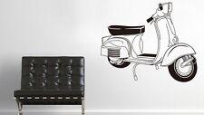 vespa piaggio Roller mods Italian Wandtattoo Wallpaper Wand Schmuck 56 cm