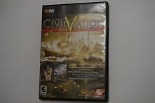 Sid Meier's Civilization V: Gold Edition (PC, 2013) Slightly Used
