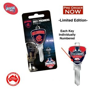 Melbourne Demons Premiers 2021 LIMITED EDITION House Key Blank -PRE ORDER ONLY