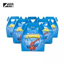 🕷6x Spiderman Party Loot Lolly Box Bag. Lunch Cake Flag Banner Supplies Flag