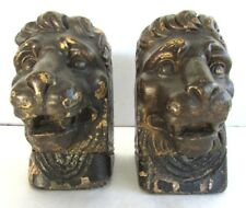Pair of Carved Wood Lion's Heads - Architectural Feature - Antique