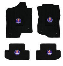 NEW! Black floor mats 1999-2002 Saab 93 9-3 with circle logo emblem all 4 pc set
