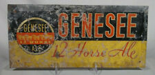 Old Genesee 12 Horse Ale Tin Over Cardboard TOC Sign Rochester NY Back Bar Beer