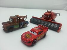 Mattel Disney Pixar Cars Frank & Tow Mater & McQueen Metal Toy Car 1:55 Loose