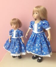 "Matching Lot Of 2 Sister Outfits 10"" Boneka Doll Dress 13"" Effner Little Darling"