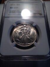 NGC Walking Liberty Half Dollar Fifty Cent Piece 50 1936 MS 64 Plus