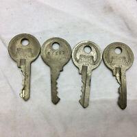 4 Vintage Hurd Keys Made in USA