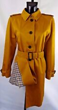 AQUASCUTUM 'BALTIMORE' Rain Trench Coat sz 12 Mustard BNWT Made in ENGLAND