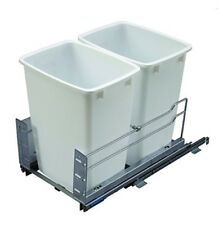 36 Qt. Double Pullout Trash Organizer Full Extension Soft Close System w/ 2 Bins