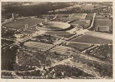 AK BERL. STADION TERRASSEN MIT REICHSSPORTFELD FLIEGERAUFNAHME GEL.1939 (AK1477)