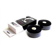 iTM Road Bike Handlebar Cork Embossed Logo Tapes + Plugs - Black