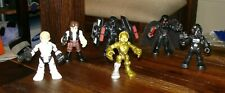6 Playskool Galactic Heroes STAR WARS Figures Luke Darth Vader C-3PO Tie Pilot