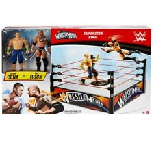 WWE Wrestlemania Superstar Ring with 2 Action Figures John Cena and The Rock