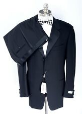 NWT PAL ZILERI Black Twill Wool Three Button Tuxedo Suit 46 R (EU 56) Drop 8