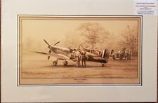 Limited Edition Aviation Mnted Print Spitfires of 41 Squadron by Stephen Brown