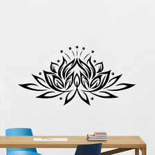 Lotus Flower Wall Decal Yoga Namaste Vinyl Sticker Bedroom Decor Poster 182hor