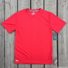 ATHLETIC WORKS PERFORMANCE ACTIVE POLYESTER TEE DRI WORKS (S 6/7) CLASSIC RED.