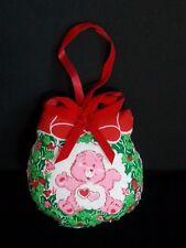 Vintage Handmade CARE BEARS Fabric Christmas Ornament