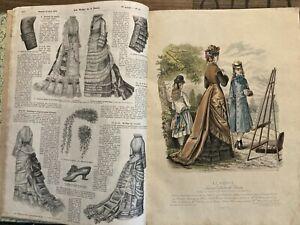 """"""" LA MODE ILLUSTREE """" Journal de la famille 1875  Mode & Couture"""