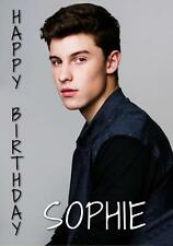 PERSONALISED SHAWN MENDES BIRTHDAY ANY OCCASION CARD