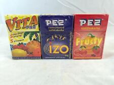 VINTAGE PEZ VITA, IZO, AND FRUCTY Foreign CANDY  Brand NEW Sealed BOXES LOT OF 3