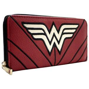 NEW OFFICIAL WONDER WOMAN STARS & STRIPES WARRIOR SUIT COIN & CARD CLUTCH PURSE
