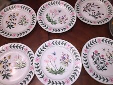DRAGONFLY BUTTERFLY LUNCH BOTANICAL GODINGER PLATES 6 DISH LORD & Taylor $238