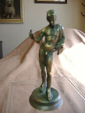 "BEAUTIFUL 4 1/2"" BRONZE OF A YOUNG MAN STATUE - VERY OLD AND DETAILED"