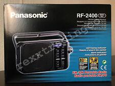 ***NEW*** PANASONIC RF-2400 AM FM Portable Radio - Black - Battery/AC