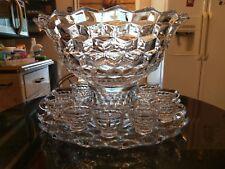 Antique  Large Venue Punch Bowl..Base..Platter..10 Cups