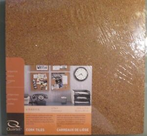 "Quartet Cork Tiles, 12"" x 12"", one set of four tiles"